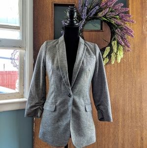 The Limited Gray Blazer with Button